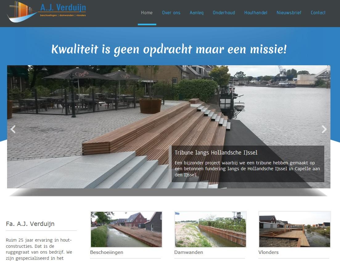 Nieuwe website A.J. Verduijn